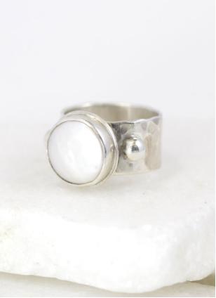 Circular Pearl Ring