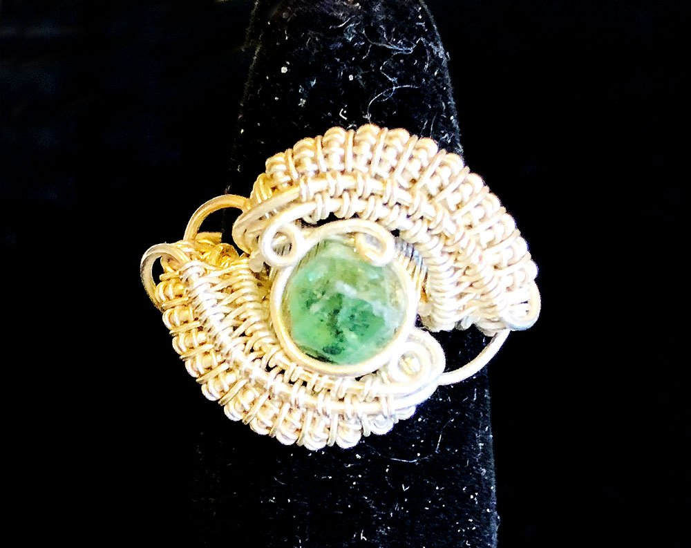 Peridot With Sterling Silver Ring